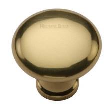 Heritage Mushroom Cabinet Knob C113 32 Polished Brass
