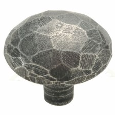 Finesse Facet Hammered Cupboard Door Knob 36mm PCK006 Solid Pewter