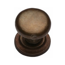 Heritage Cabinet Knob RBL613 32mm Solid Bronze Rustic