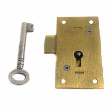 "2"" Straight Cupboard Lock, Brass"
