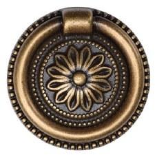 Heritage Floral Drop Pull TK2224 47mm Distressed Brass