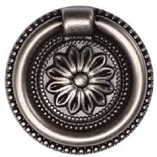 Heritage Floral Drop Pull TK2224 47mm Distressed Pewter