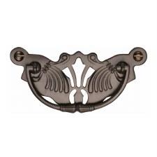 Heritage Decorative Cabinet Drop Handle V5021 Matt Bronze