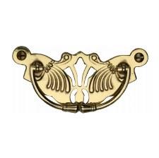 Heritage Decorative Cabinet Drop Handle V5021 Polished Brass