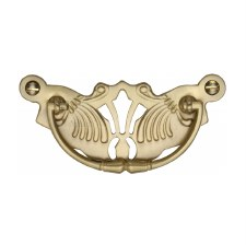 Heritage Decorative Cabinet Drop Handle V5021 Satin Brass