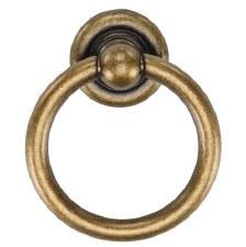Heritage Classic Drop Pull TK9213 Distressed Brass
