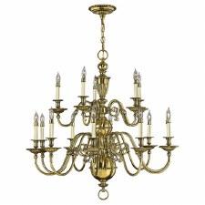 Hinkley Cambridge 15 Light Chandelier Burnished Brass