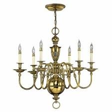 Hinkley Cambridge 6 Light Chandelier Burnished Brass