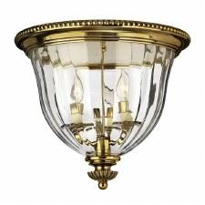 Hinkley Cambridge Large Flush Mount Light Burnished Brass