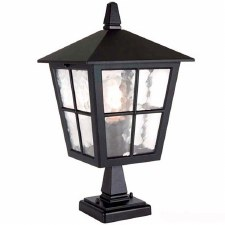 Elstead Canterbury Pedestal Lantern Light Black
