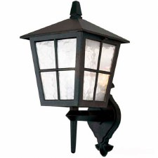Elstead Canterbury Outdoor Wall Light Lantern Black
