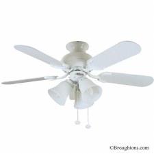 "Fantasia Capri 36"" Ceiling Fan with Lights White"