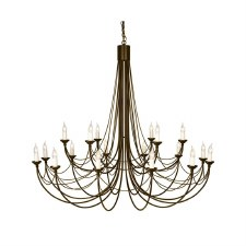 Elstead Carisbrooke 18 Light Chandelier Black