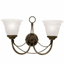 Elstead Carisbrooke Double Wall Light Black Gold