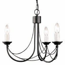 Elstead Carisbrooke 3 Light Chandelier Black