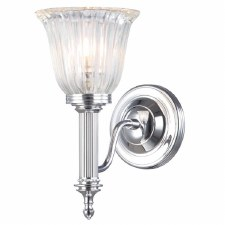 Elstead Carroll 1 Bathroom Wall Light Chrome