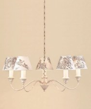 Caravelle 5 Light Chandelier Cream Gold