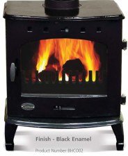 Cast Iron Stove Black Enamel 7.3kw