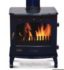 Cast Iron Stove Blue Enamel 7.3kw