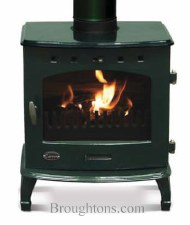 Cast Iron Stove Green Enamel 7.3kw