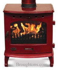 Cast Iron Stove Red Enamel 7.3kw