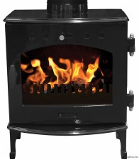 Cast Iron Stove Black Enamel 4.7kw