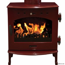 Cast Iron Stove Red Enamel 4.7kw