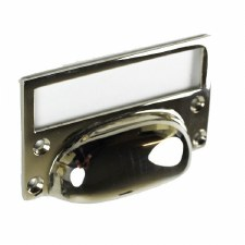 Croft 1822 Drawer Pull & Card Frame Polished Nickel