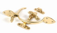 From The Anvil Cast Suffolk Latch Set Polished Brass