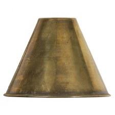 """Metal Coolie Shade 5"""" Light Antique Brass"""