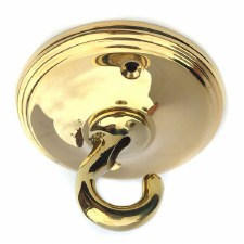 Victorian Constable 628 Ceiling Hook Polished Brass Lacquered