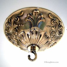 Ceiling Hook Plate Decorative Polished Brass