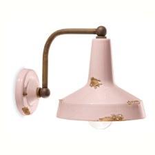 Italian Ceramic Wall Bracket Light C1420 Vintage Cipria