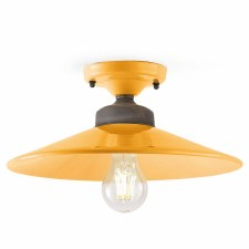 Italian Ceramic Semi Flush Ceiling Light C1633 Giallo