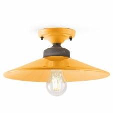 Italian Ceramic Semi Flush Ceiling Light C1633 Giallo