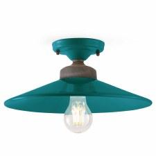 Italian Ceramic Semi Flush Ceiling Light C1633 Petrolio