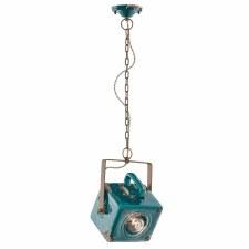 Italian Ceramic Pendant Ceiling Light C1652 Vintage Verde