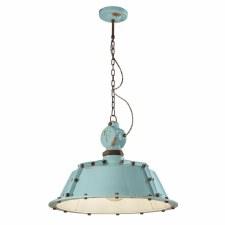 Italian Ceramic Ceiling Pendant Light C1720 Vintage Azzurro