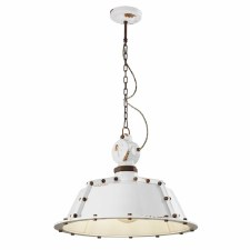 Italian Ceramic Ceiling Pendant Light C1720 Vintage Bianco