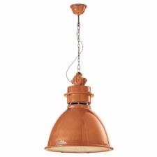Italian Ceramic Ceiling Pendant Light C1750 Vintage Arancio