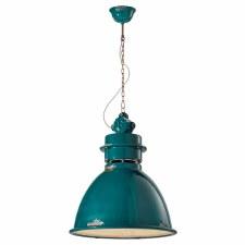Italian Ceramic Ceiling Pendant Light C1750 Vintage Verde