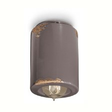 Italian Ceramic Ceiling Light C985 Vintage Tortora