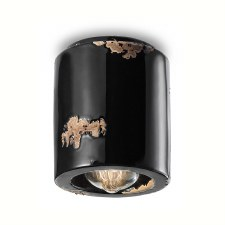 Italian Ceramic Ceiling Light C986 Vintage Nero
