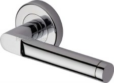 Heritage Celia Round Rose Door Handles V7450 Polished Chrome