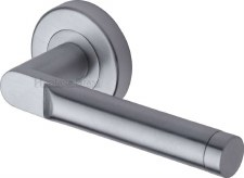 Heritage Celia Round Rose Door Handles V7450 Satin Chrome