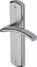 Heritage Centaur Latch Door Handles CEN1010 Satin & Polished Chrome