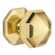 Croft Centre Door Knob 1751 76mm Polished Brass Unlacquered