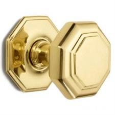Croft Large Centre Door Knob 4185 Polished Brass Unlacquered
