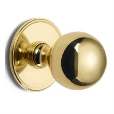 Croft 6405 Centre Door Knob Polished Brass Unlacquered