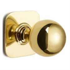 Croft Centre Door Knob 6406 Polished Brass Unlacquered